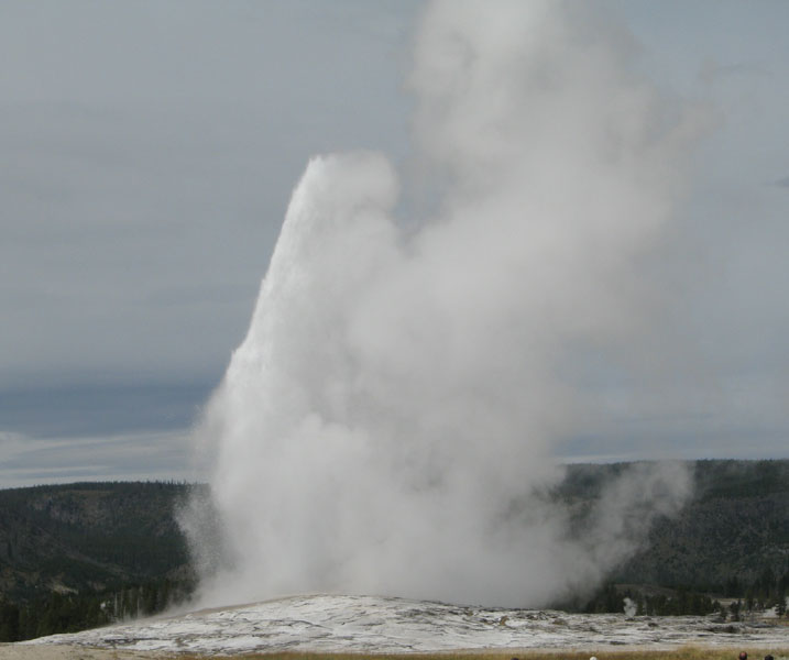 Old Faithful Geyser, from the Lodge